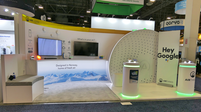 Airthings image CES 2019 booth