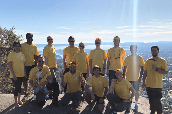 Airthings LUNGFORCE hike 2019