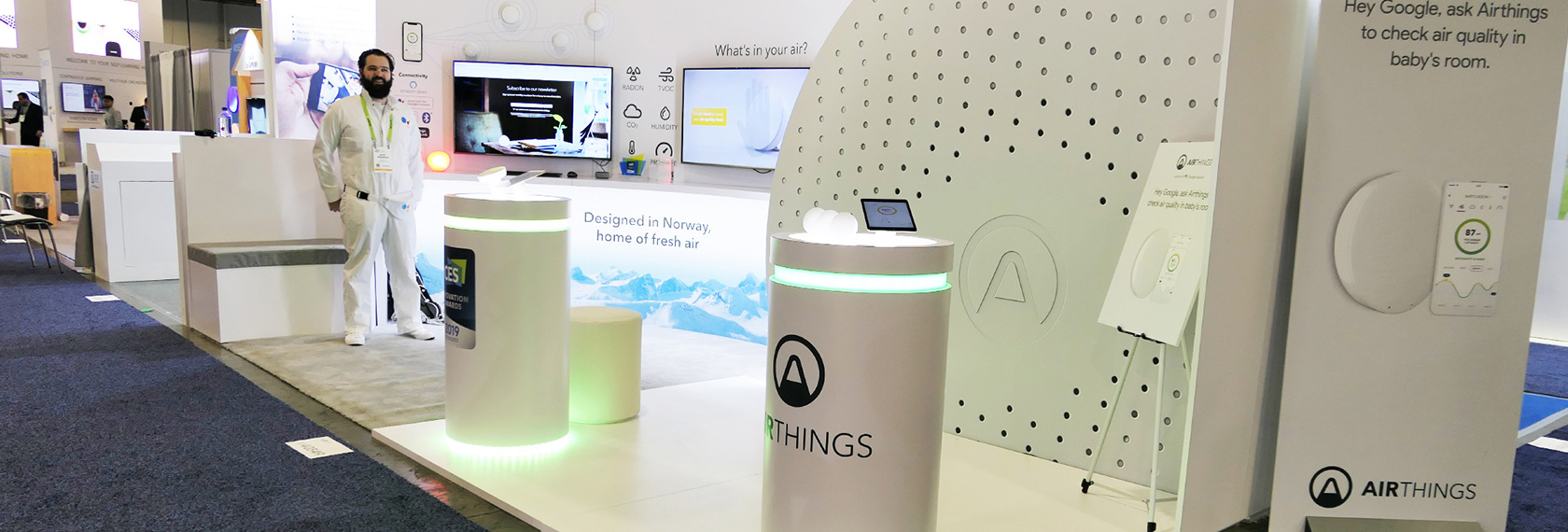 Airthings CES stand