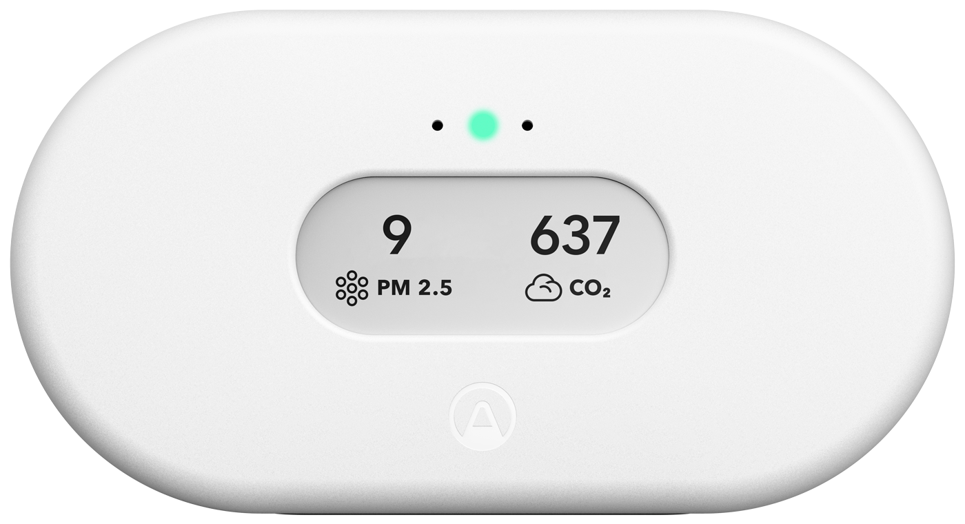 Airthings View Plus - Hero Image - Front_PM_CO2_GLOW_WEB_Transparent