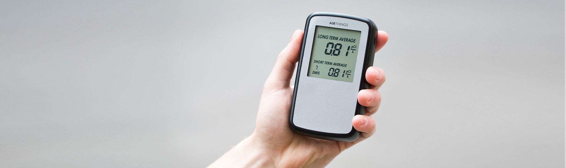 radonmaling med Corentium Home radondetektor