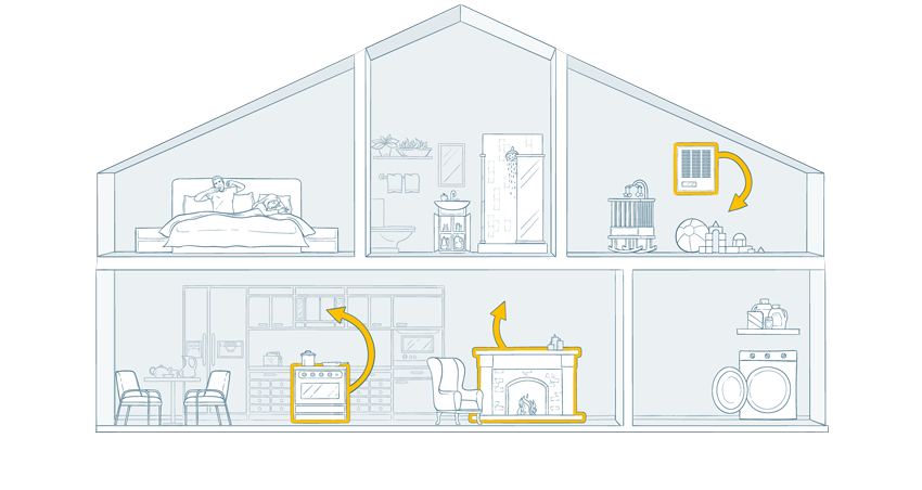 Airthings-House-Illustrated-Wave-Plus-TEMP-web
