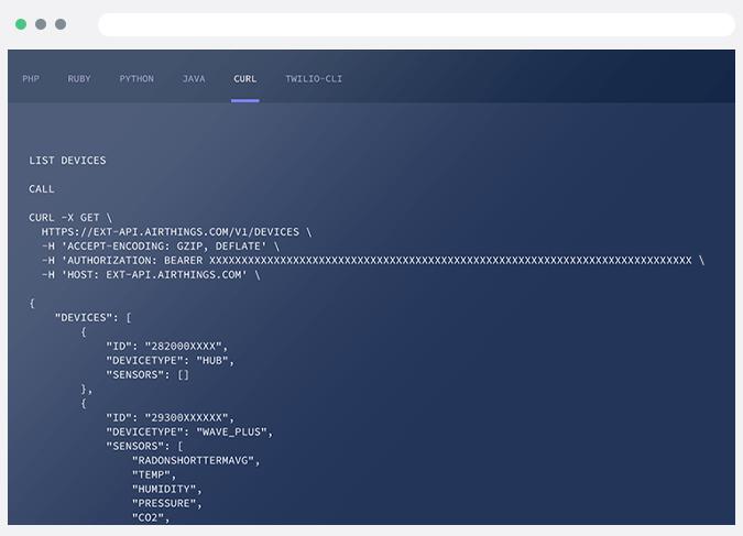 API-screen