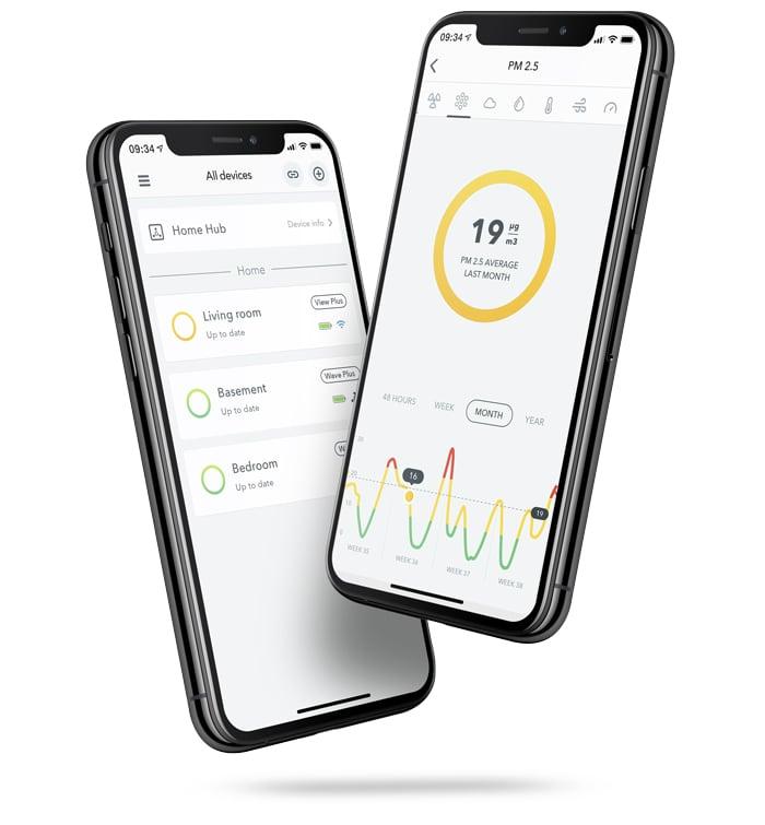Airthings-View_plus-App-2-Phones-v2